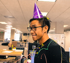 Happy Birthday (Sensaet) Tags: birthday party confetti startup surprise paloalto siliconvalley photosharing cooliris