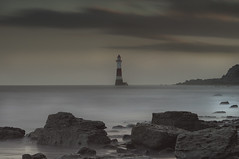 LightHouse (simon.anderson) Tags: longexposure light lighthouse seascape bulb clouds warning landscape sussex rocks tripod dramatic 85mm structure eastbourne eastsussex beachyhead manfrotto intervalometer simonanderson cowgap nikon1685 nikond300s lee06ndgrad hitechprostopper