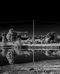 A Morning Walk  II_edited-1 (Hutech_f2.2 (in Recovery mode)) Tags: blackandwhite art digital reflections nikon 85mm australia infrared wodonga d700 sumsionlake