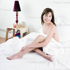 beautiful caucasian woman in bed (Franck Camhi) Tags: morning people woman white paris france cute girl beautiful beauty smiling female cutout french relax happy person one 1 bed bedroom sitting awakening background joy young relaxing lifestyle peaceful tranquility happiness calm friendly sheet casual brunette relaxation behavior wakingup wellness caucasian wellbeing brownhair positivity lookingatcamera