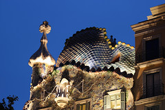 Casa Batll Roof (russ david) Tags: roof house architecture casa spain may bones gaud antoni 2012 dels ossos batll architectre