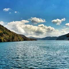 Lake Ashi (daggerfield) Tags: sky lake japan clouds ashi