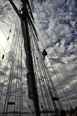 Climbing the rigging (Forsaken Fotos) Tags: md ship pride tallship fellspoint privateerfestival prifrofbaltimoreii