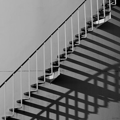 Stairs and Shadows (Noutyboy) Tags: shadow bw white abstract black holland geometric netherlands monochrome stairs canon eos europe utrecht play zwartwit nederland thenetherlands silo shade schaduw trap amsterdamrijnkanaal 550 geometrisch 500x500 westraven nout ritme 550d ketelaar schaduwspel eos550d noutyboy