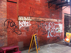 kz (taste-maker) Tags: old nyc school graffiti tags poke letter straight outline kz kuma inkhead throwie