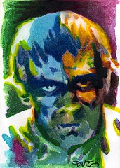 The Ghoul Art by Luis Diaz-13 (Luis Diaz Art) Tags: boriskarloff theghoul artofrobertaragonsketchcards artbyluisdiaz