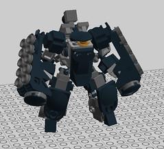 ST-07 Mk2 Vanguard 'Bruiser' (R3divulpis) Tags: superchub mf0 mobileframezero mobileframezerorapidattack
