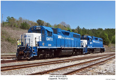 GMTX 2618 & 2675 (Robert W. Thomson) Tags: railroad train diesel tennessee railway trains locomotive trainengine geep copperhill emd gp382 gp38 gatx gmtx fouraxle