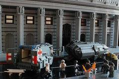 Crisis, What Crisis? (peggyjdb) Tags: london architecture army lego bank economy crisis soliders bankofengland threadneedlestreet