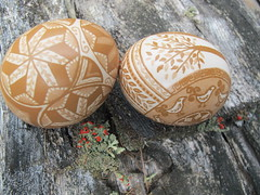 Etched Brown Hen Eggs (susie-nh) Tags: art eggs etch pysanky ukrainianeasteregg expressedincolorscom