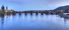 Karlv most (Finn_TeT) Tags: panorama prague praha charlesbridge hdr karlvmost sininenhetki bluemoment singleexposurehdr kaarlensilta