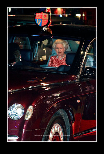 HRH Queen Elizabeth II is driven in Her car-Bunch of Ameteurs Royal Film Performance-