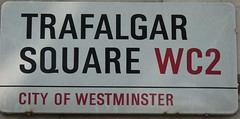 Trafalgar Square WC2 ( Claire ) Tags: city london church sign st square martin trafalgar trafalgarsquare stmartin nelsonscolumn stmartininthefields wc2