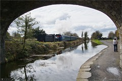 The Royal Canal Shuttle (bbusschots) Tags: bridge ireland train canal rail maynooth pathway kildare steamloco rpsi no186 topazadjust