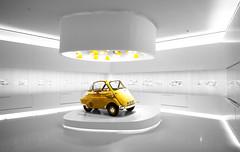 BMW Isetta (Jani Foeldes) Tags: yellow museum photoshop germany munich mnchen bayern deutschland bavaria nikon 4 gelb software bmw oldtimer nik nikkor isetta lightroom bmwisetta bmwmuseum d600 2485mm cs6 3545 nikond600 nikkor2485mm3545 viveza2