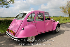 Rosie in the country-7 (magicalnights) Tags: pink wedding car derbyshire 2cv chic weddingcar shabbychicwedding sexyweddingcar 2cvweddingcar