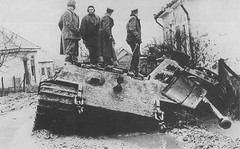 "Soviet officers on destroyed  heavy tank ""King Tiger"". (Krueger Waffen) Tags: war tank thirdreich wwii armor ww2 wreck armour armored destroyed waffenss tanks panzer kingtiger secondworldwar afv worldwartwo armoredvehicle armoured armoredcar wehrmacht markvi tigertank pzkpfw tigerii royaltiger destroyedtank pzkpfwvi secondworldwartanks worldwartwotanks tanksofthesecondworldwar"