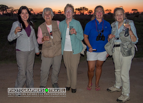Our ladies with sundowners