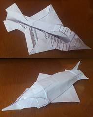 not a fighter jet (origamiPete) Tags: paper nose shark sketch origami ray fold shovel paperfolding trial folding draft nosed shovelnosed