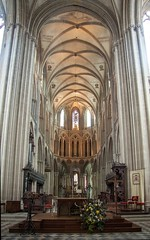 Bayeux Cathedral- interior (margatt2012) Tags: france cathedral gothic medieval normandy bayeux
