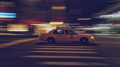 NYC cab camera panning action