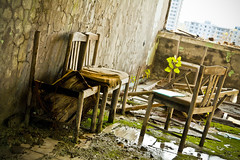 Chairs at Pripyat hotel (MoraTilTordis) Tags: hotel chairs radiation ukraine disaster second chernobyl pripyat