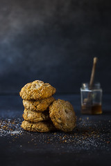 Honey Ginger Scones_sml-0072 (onegirlinthekitchen) Tags: cooking breakfast canon ginger baking 100mm homemade honey scones chiaroscuro teaparty foodphotography foodstyling victoorianrecipes