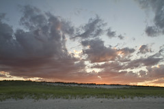 Outer Beach Sunset (brucetopher) Tags: beach beaches sand dune dunes peaceful sanddunes sunset sunrise glow afterglow sky skies amazingskies amazingsky weather clouds cloud cloudscape pattern cloudpattern nature stunning beauty violet pink red purple orange twilight