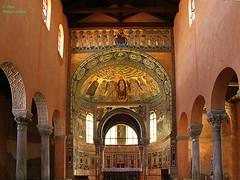 IMG_0183 Abside de la basilique  d'Euphrasius  IMG_0185 Mosaques de labside de la basilique Euphrasienne de Pore  Istrie-croatie (philippedaniele) Tags: basilique mosaque viergemarie la visitation abside