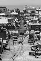 Punta Arenas (Medigore) Tags: blancoynegro byn street 50mm canont3i chile medigore calle blanco negro monocromtico profundidad sombras esculturas y interior nieve punta arenas ciudad