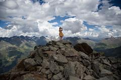 On top (EnKajsa) Tags: enkajsa fotokajsa kajsa eriksson vacation mountain top girl woman selfie selfportrait redhead ginger blue dress wind high cute awesome look slden tirol fs160828 fotosondag sommarnoje