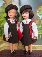 Heading Home (Foxy Belle) Tags: doll school uniform brown uk patch sindy little sister vintage 1960s beret pedigree