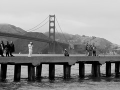 A Different View (Snarfff) Tags: bw goldengatebridge