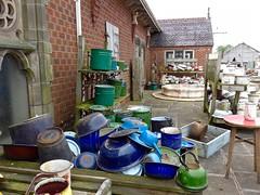 Pots & Pans (Landie Les) Tags: salvage yard lesoakes junk enamel pots pans kitchenware