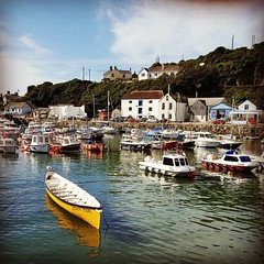 Portleven harbour. Seriously considering not going home. (Simon220771) Tags: instagram cornwall sea harbour boat porthleven seascape
