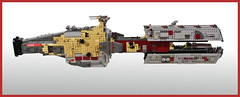 Ktrrykkr (formerly known as  Heir of Pruianus) (FonsoSac) Tags: shiptember scifi starship moc microscale