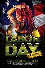 Labor Day Flyer Template (AyumaDesign) Tags: advertising america birthday club celebrate dj event flyer flyerparty flyertemplate design graphicdesign labor laborday holiday usa posterdesign template sexy flag steel grunge texture