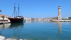 Rethymnon (Crete) - lighthouse (alkanast) Tags: greece crete rethymno lighthouse     water    harbour venezian ship pirate