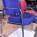Meeting chair blue fabric