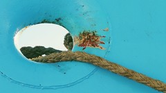 The Eye... (Decaycat) Tags: decaycat minimal turquoise ship rope