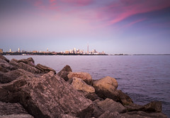 Toronto Skyline by Humber Bay (ravi_pardesi) Tags: toronto skyline skyscrapper cntower ontario evening beautiful serene sky outdoor waterfront lakeontario humberbay