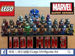 My Lego hand-painted Iron Man army artworks .All minifigures were painted and created by me.Hope you guys like it:) (LMA Customs) Tags:  ironpatriot gamma artworks art mark legosuperheros igor photo legos lego    bluesteel silvercenturion nightclub starboost redsnapper jack disco legominifigures legophotography marvel ironman