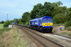 maritime livery 66727 works 4l39 birch coppice to felxistowe passed egleton rutland (I.Wright Photography over 2 million views thanks) Tags: maritime livery 66727 works 4l39 birch coppice felxistowe passed egleton rutland new paint job gbrf gbrailfreight