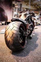 OKOKIMG_5167 (taymtaym) Tags: motodays 2016 roma rome fiera di motorbike motorcycle bike custom harley davidson wheel tire tyre huge gomma pneumatico ruota back rear moto motocicletta motociclette