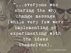 Educational Postcard about the message about change vs actual change (Ken Whytock) Tags: everyone sharing change message implementing experimenting ideas education tecahinng systemchange
