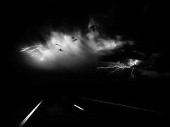 . (hornbeck) Tags: blackandwhite bw oklahoma theend lightning