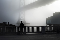 (sparth) Tags: sanfrancisco california leica bridge silhouette fog 35mm march voigtlander foggy 12 brouillard m9 2013 leicam9