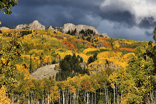 Kebler Pass with Cloudy Background
