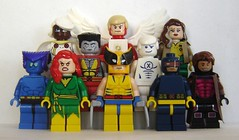 X-Men (ChocoBricks Customs) Tags: storm phoenix angel lego cyclops xmen iceman beast rogue custom marvel gambit wolverine colossus jeangrey
