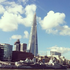 "The shard- the first of many from my adventure no doubt.referred to as the ""shard of glass""also.an impressive 95 floor skyscraper in London. (Tonia_74- going camping in extreme weather ;0))) Tags: city london glass sunshine clouds marine skyscrapers shardofglass"